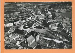 CPSM  Grand Format - St Léger Sur Beuvray -(S.-et-L.) - Vue Aérienne Sur Le Quartier Du Centre Et Hôtel Du Mont Beuvray - Autres Communes
