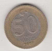 @Y@  Turkije    50  Yeni   Kurus   2007    (4728) - Turquie