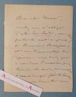 L.A.S 1889 Charles JACQUE Peintre école Barbizon à Son Cher VERNIER - Monjean - Lettre Autographe LAS - Autographes