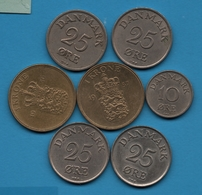 DANMARK LOT MONNAIES 8 COINS 1950 - 1957 - Danemark