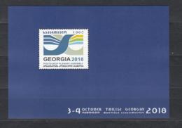 Georgien Georgia  MNH** 2018 Post Europe Plenary Assembly Mi 723 Bl.82 - Georgien