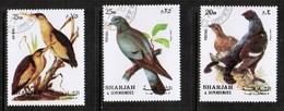 SHARJAH  Scott # UNLISTED VF USED BIRD SET (Stamp Scan # 468) - Sharjah