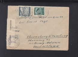 Österreich Brief Nach Schleswig Zivilzensur - 1945-.... 2. Republik