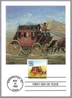DILIGENCIA POSTAL - STAGECOACH - 20th Universal Postal Congress. Washington DC 1989 - Correo Postal