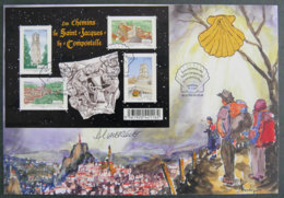 FRANCE - 2012 - PJ F4641 - LES CHEMINS DE COMPOSTELLE - FDC