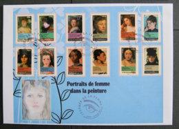 FRANCE - 2012 - PJ ADH 674 à 685 - PORTRAITS DE FEMMES DANS LA PEINTURE - FDC
