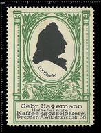 Old German Poster Stamp Cinderella Reklamemarke Erinnofili Publicité Vignette Georg Friedrich Händel Composer, RARE - Musica