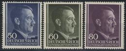 110-112 Freimarken Hitler 1943, Satz Komplett ** Postfrisch - Besetzungen 1938-45