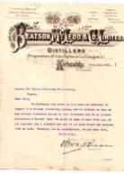 Facture Anglaise 1903-Beatson Mc Leod-voir état - Ver. Königreich