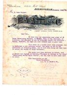 Facture Anglaise 1910-Allen-voir état - Ver. Königreich