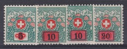 SUISSE Taxe 1916-24:  Série Complète Neufs ** - Portomarken