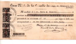 Mexico - Reçu De 35 Pesos De 1938-voir état - Rechnungen