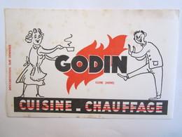 Publicité Buvard Buvards Godin Guise Aisne Cuisine Chauffage - Electricity & Gas