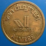 KB116A-2 - VAN DUIJNEN AUTOMATEN - Almere - B 22.0mm - Koffie Machine Penning - Coffee Machine Token - Firma's