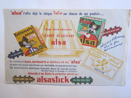 Publicité Buvard Buvards Alsa Alsastick Levure Alsacienne - Alimentaire