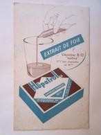 Publicité Buvard Buvards Extrait De Foie Héatrol Paris Rue Platon 15 XV - Produits Pharmaceutiques