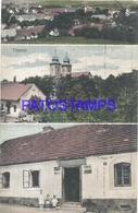 108497 CZECH REPUBLIC TISMICE MULTI VIEW CIRCULATED TO SPAIN POSTAL POSTCARD - Czech Republic