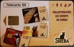 Telefonkarte Frankreich - Werbung - Sheba - Katze - 50 Units - 03/96 - 1996