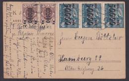 Polska Postcard PELPLIN Pomarze Inflation Sämann 50.000 Auf 10 Mark Nach Hamburg - 1919-1939 République