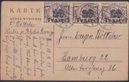 Polska Postcard PELPLIN Pomarze 18.12.23 Inflation 10 Tausend Auf 25 (3) Nach Hamburg, MiNr. 185 - 1919-1939 République