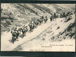 CPA - Artillerie De Montagne - Gebirgsartillerie - En Marche, Animé - Manoeuvres
