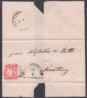 HOTTENBURG Bayern Faltbrief Mit 3 Kr. Geschnitten 19.5.1869 Nach Neuötting - Beieren
