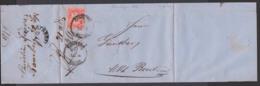 BAMBERG BAHNH Bayern Faltbrief Mit 3 Kr. Gez.  20.9.1870 Nach Markt Breit - Bavière