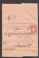 FÜRTH I. W.Bayern Faltbrief Mit 3 Kr. Gez.  13.9.1874 Nach Cham - Beieren