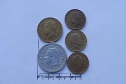 Lot De 5 Monnaies Monaco Francs (&30) - Monaco