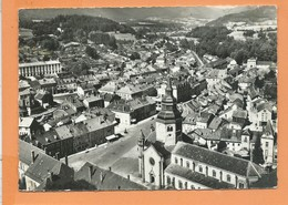 CPSM  Grand Format (abîmée )- En Avion Au Dessus De...8 - Senones -(Vosges ) - Place Dom Calmet - Senones