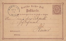 DR Ganzsache K1 Namslau 13.5.74 - Lettres & Documents