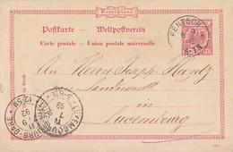 DR Ganzsache K1 Fentsch 6.9.92 Gel. Nach Luxemburg - Deutschland
