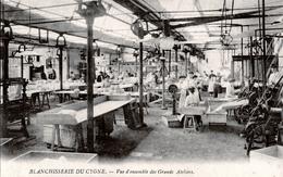 94. VAL DE MARNE - NOGENT SUR MARNE. Blanchisserie Du Cygne, 133 Grande Rue. Vue D'ensemble Des Grands Ateliers. 2 Scans - Nogent Sur Marne
