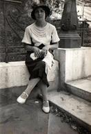 Photo Originale Adrienne Lafon Sur Son 31 Vers 1920/30 Vers Marseille - Personnes Identifiées
