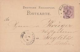 DR Ganzsache K1 Berlin W 35  4.3.77 Ankunftsst. K2 Steglitz 4.3.77 - Deutschland