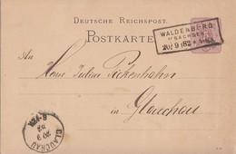 DR Ganzsache R3 Waldenburg I. Sachsen 20.9.82 - Deutschland