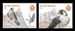 San Marino 2019 Mih. 2775/76 Europa. National Birds. Fauna. Falcons MNH ** - Saint-Marin