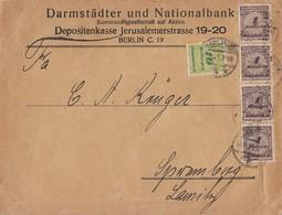 DR Brief Mif Minr.4x 325A, 328 Berlin 18.11.23 - Briefe U. Dokumente