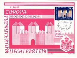 EUROPA 1964, Edition PEN, Auflage 500 - Maximumkarten (MC)