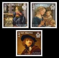 San Marino 2019 Mih. 2780/82 Great Painting. Leonardo Da Vinci. Filippo Lippi. Rembrandt MNH ** - San Marino