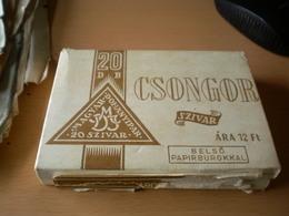 The Old Full Cigars Cardboard Box  Magyar Dohanyipar 20 Szivar Csongor Szivar  20 Pieces - Around Cigars