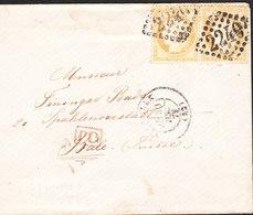 Lettre Ceres 15c De MARSEILLE (2240) Du 30 Dec 1875 Via Bale En Suisse (cachet PD) - Postmark Collection (Covers)