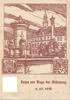 DR Propagandakarte Leipa Am Tage Der Befreiung 9.10.38 Stempel Ansehen !!!!!!!!!!!!! - Deutschland