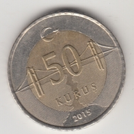 @Y@  Turkije    50     Kurus   2015    (4729) - Turquie