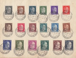 Dt. Besetzung Ukraine Blatt Minr.1-18 Jede Marke Stempel Luniniec 4.1.44 Dt. Dienstpost Ukraine - Besetzungen 1938-45