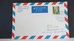 DDR WU: Lp-Ausl-Karte Mit 60 Pf Ulbricht Vom DDR-Letzttag Vom 2.10.90 In Die Schweiz Knr: 1080 Ua. - DDR