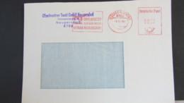 """DDR WU: Brief DP =0050= AFS Noch Mit """"VEB"""" Und Abs-Gummi-Stpl. Auf Oberlausitzer Textil GmbH Geändert Vom 9.11.90 - Covers & Documents"""