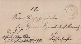 Preussen Brief K2 Wildungen 23.3. Mit Inhalt Seltener Stempel - Preussen
