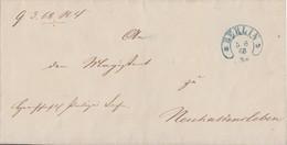 Preussen Brief Blauer Hufeisenstempel Berlin 5.6.68 - Preussen