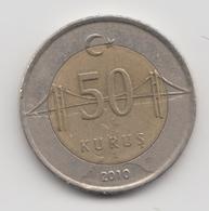 @Y@  Turkije    50     Kurus   2010    (4755) - Turquie